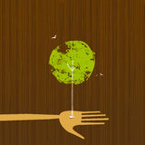 Accroissement d'arbre d'une main Photo libre de droits