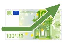 Accroissement d'euro Images libres de droits