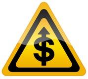 Accroissement de cours du dollar Photo libre de droits