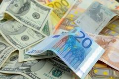 Accroissement de taux de change de l'euro. Image libre de droits