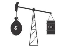 Accroissement des prix du pétrole Photos stock