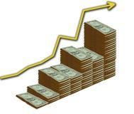 Accroissement du dollar illustration libre de droits