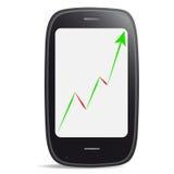 accroissement du marché des Intelligent-téléphones Photographie stock libre de droits