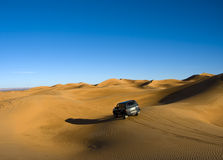 Accross sahara desert Stock Photos