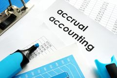 Accrual accounting. Royalty Free Stock Photography