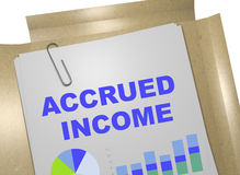 Accrued Income concept Stock Photo