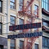 Accueil à Chinatown photo stock