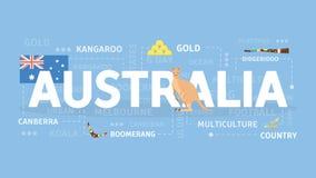 Accueil à l'Australie illustration libre de droits
