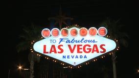 Accueil à l'enseigne au néon de Las Vegas - agrafe 3 banque de vidéos
