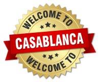 accueil à l'insigne de Casablanca illustration libre de droits