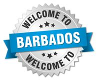 accueil à l'insigne des Barbade Images libres de droits