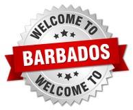 accueil à l'insigne des Barbade illustration libre de droits