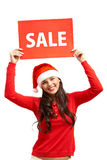 Accueil à la vente de Noël Image stock