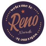 Accueil à Reno Nevada illustration libre de droits
