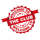 Accueil au club Image stock