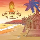 Accueil au fond de la Thaïlande Photo libre de droits