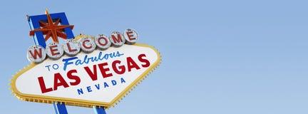 Accueil au signe de Las Vegas images stock