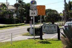 Accueil au signe de plage de Deerfield Image libre de droits