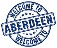 Accueil au timbre d'Aberdeen illustration de vecteur