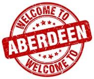 Accueil au timbre d'Aberdeen illustration stock