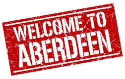 Accueil au timbre d'Aberdeen Image libre de droits