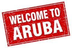 Accueil au timbre d'Aruba illustration libre de droits