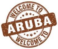 Accueil au timbre d'Aruba Photographie stock libre de droits