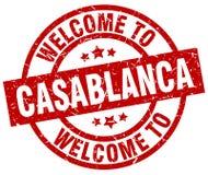 accueil au timbre de Casablanca illustration stock