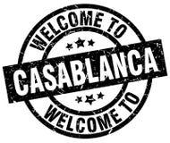 accueil au timbre de Casablanca illustration de vecteur