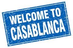 accueil au timbre de Casablanca illustration libre de droits