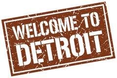 Accueil au timbre de Detroit Photos stock