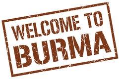accueil au timbre de la Birmanie illustration libre de droits