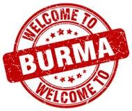 accueil au timbre de la Birmanie illustration stock