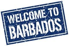 Accueil au timbre des Barbade Photos stock