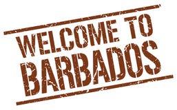 Accueil au timbre des Barbade Photographie stock