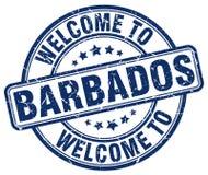 Accueil au timbre des Barbade Image libre de droits