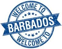 Accueil au timbre des Barbade Images libres de droits