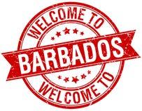 Accueil au timbre des Barbade Photographie stock libre de droits