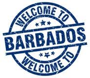 Accueil au timbre des Barbade illustration stock