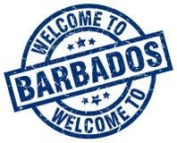 Accueil au timbre des Barbade illustration libre de droits