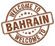 Accueil au timbre du Bahrain Photo stock