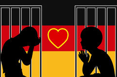 Accueil d'enfants de réfugié en Allemagne Photographie stock