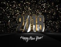 Accueil de ¡ de la bonne année 2018 Â ! image stock