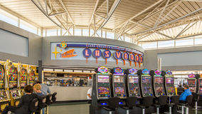 Accueil de ` au signe de ` de Las Vegas, terminal d'aéroport de McCarran Internalional Photos libres de droits