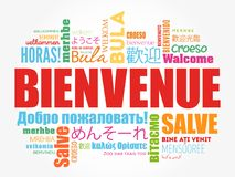 Accueil de Bienvenue en français illustration de vecteur