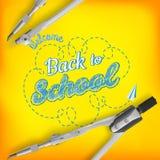 Accueil de nouveau à la carte de voeux d'école ENV 10 illustration stock