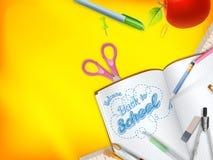 Accueil de nouveau à la carte de voeux d'école ENV 10 Images stock
