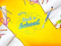Accueil de nouveau à la carte de voeux d'école ENV 10 illustration libre de droits