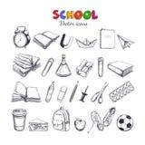 Accueil de nouveau à la collection 2 de vecteur d'école illustration libre de droits
