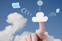 Accueil du nuage Image libre de droits